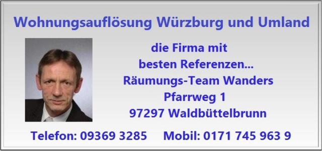 Wohnungsauflösung Entrümpelung Würzburg