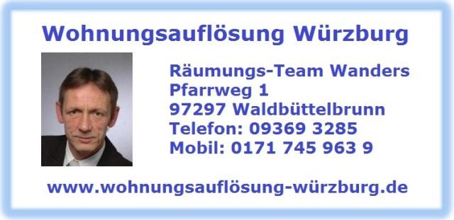Wohnungsauflösung Kitzingen