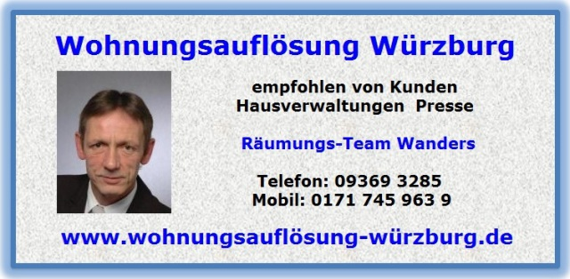 Wohnungsauflösung Waldbüttelbrunn